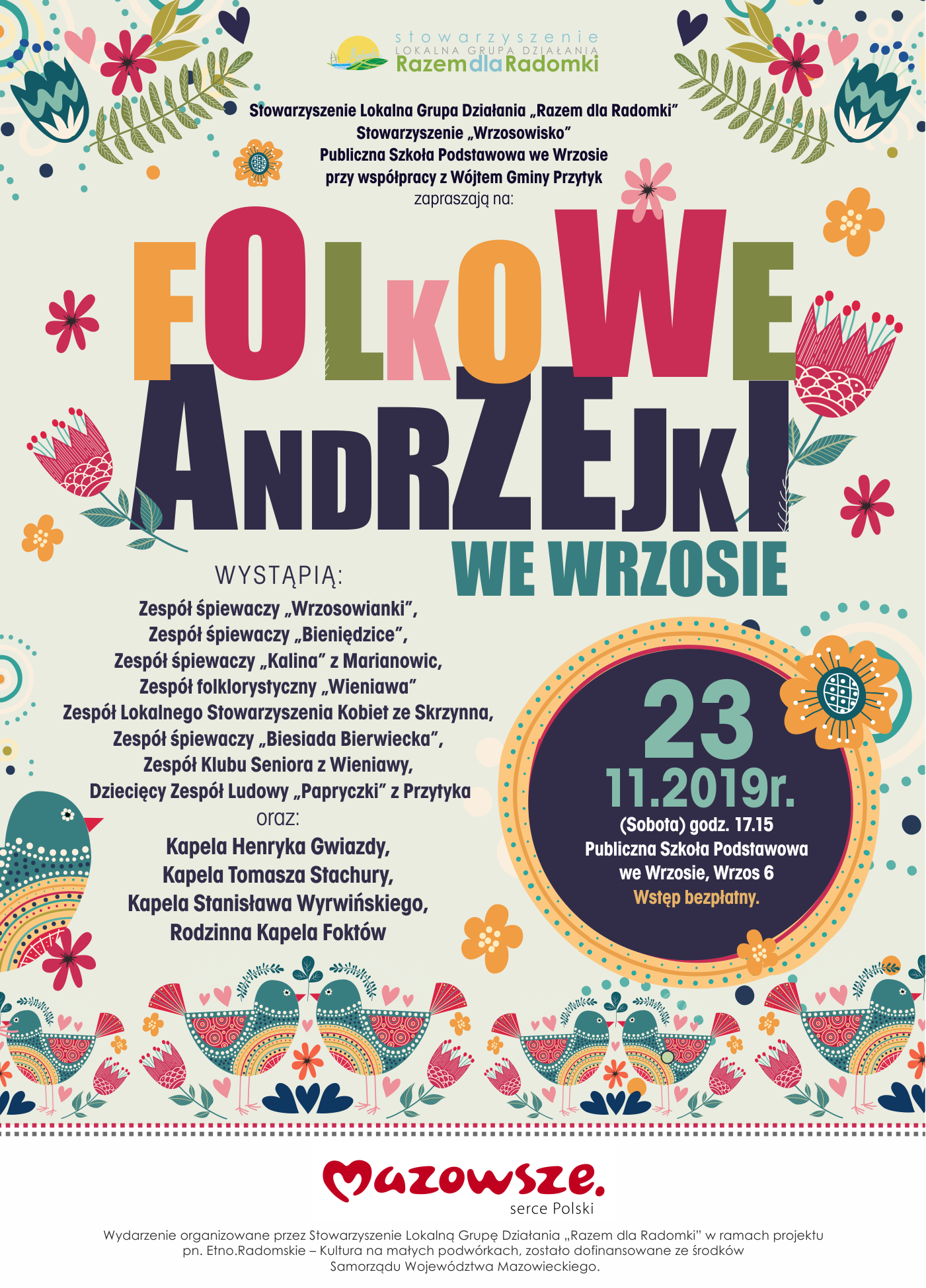 Folkowe Andrzejki we Wrzosie
