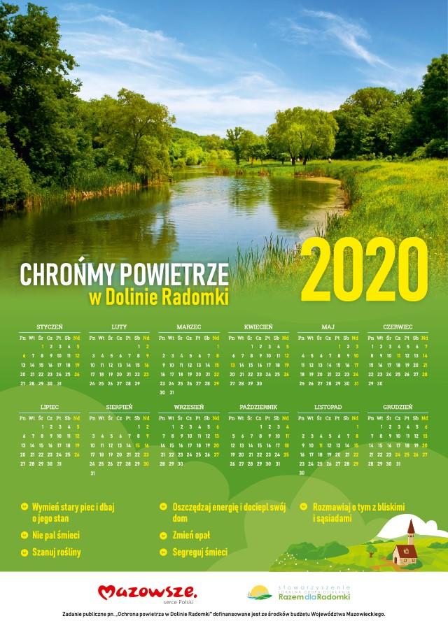kalendarz doliny radomki 2020