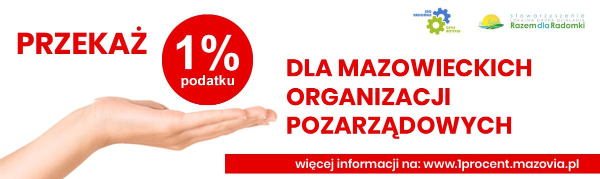DAJĘ – NIE TRACĘ! Przekaż 1% na mazowieckie organizacje pozarządowe.